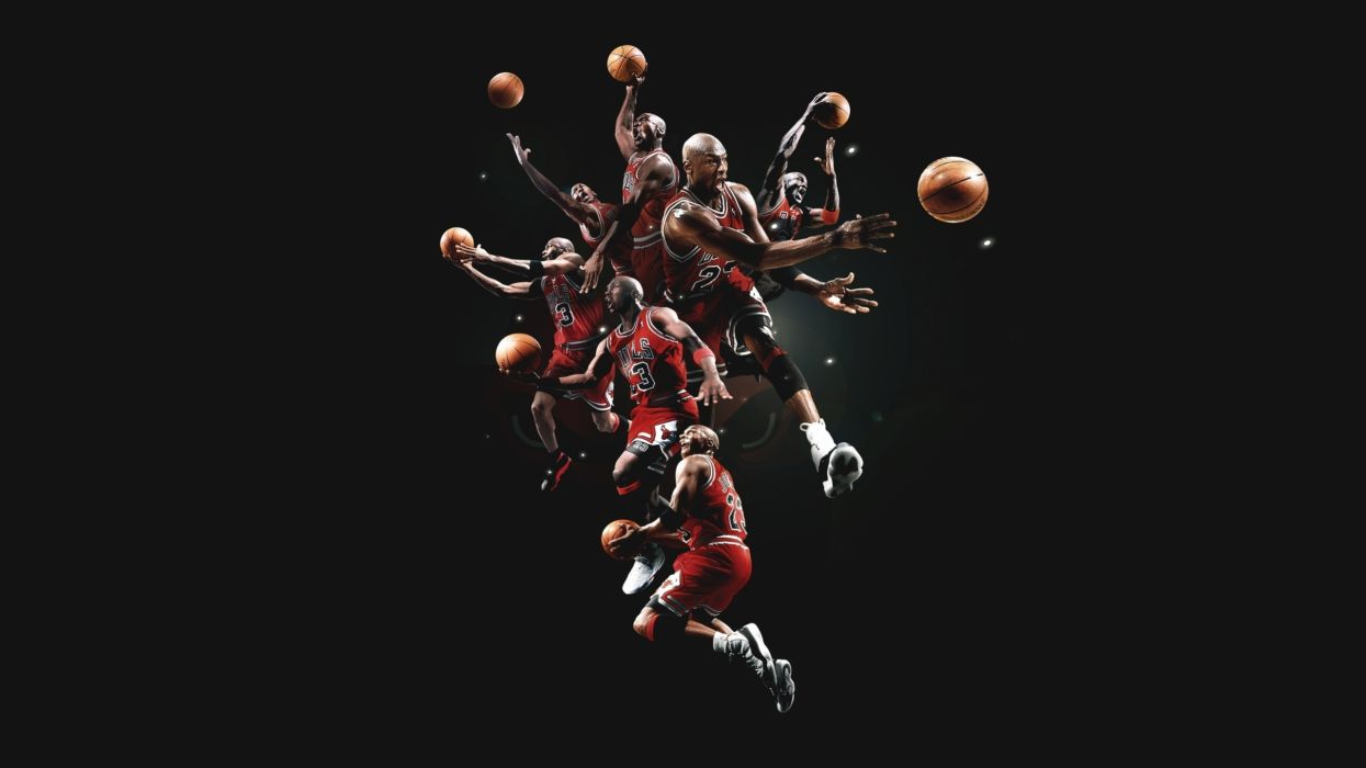 michael jordan basketball chicago bulls men males action stop motion