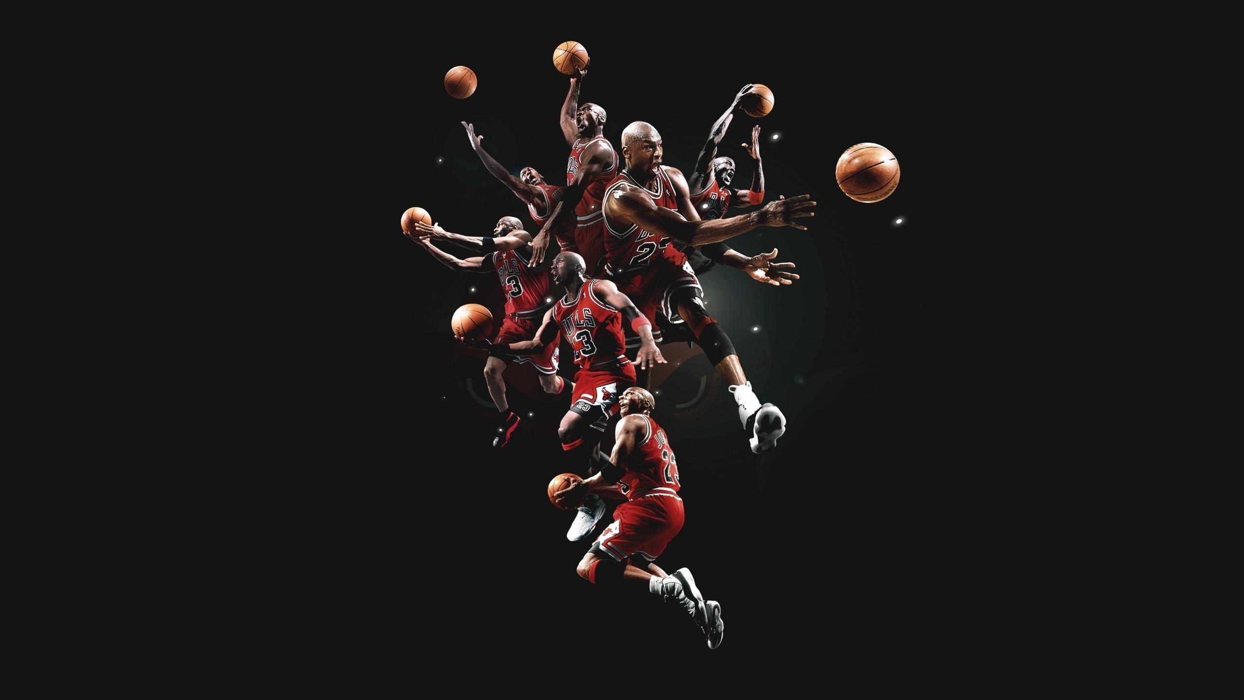 Michael jordan basketball chicago bulls men males action stop motion wallpaper | 2560x1440 | 43901 | WallpaperUP