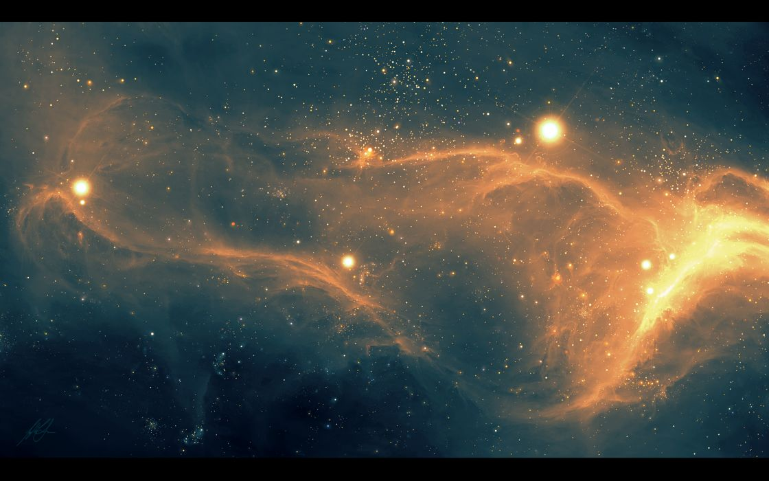 nebula space sci-fi stars universe wallpaper