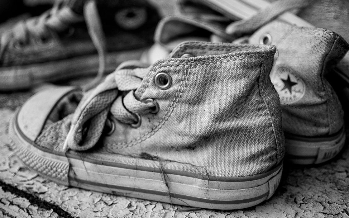 Shoes Converse Black White Retro Sneakers Product Macro