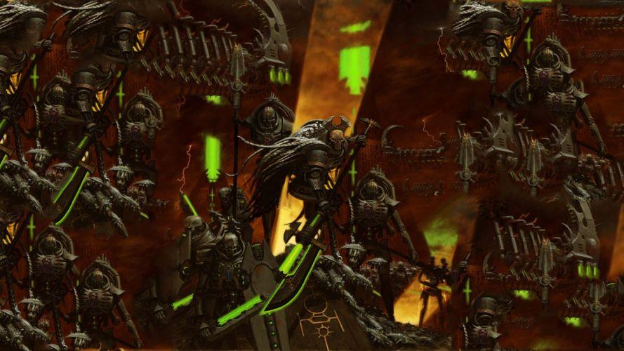 Warhammer 40k Space Marines warriors soldiers sci-fi weapons guns wallpaper