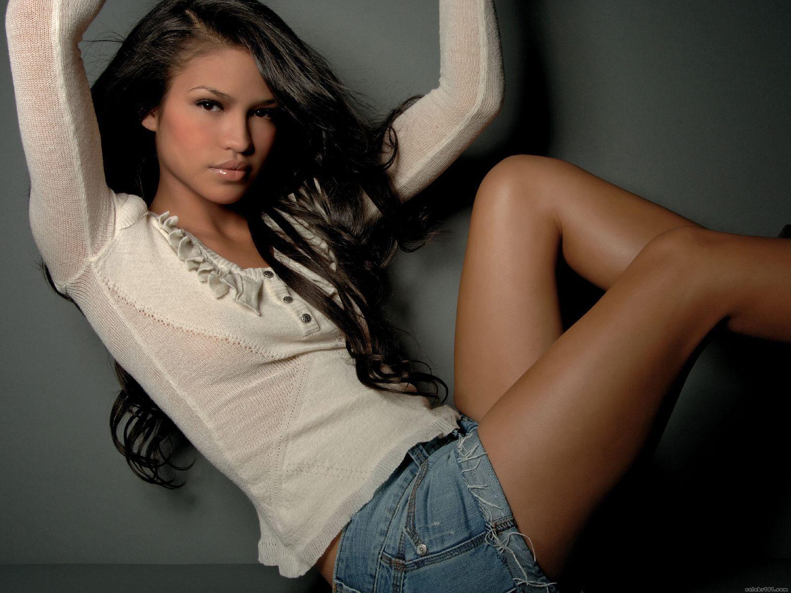 Cassie Ventura singer actress women females girls models brunettes sexy babes face eyes pov f ...