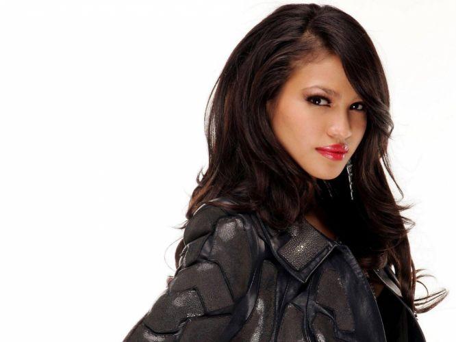 Cassie Ventura singer actress women females girls models brunettes sexy babes face eyes pov wallpaper