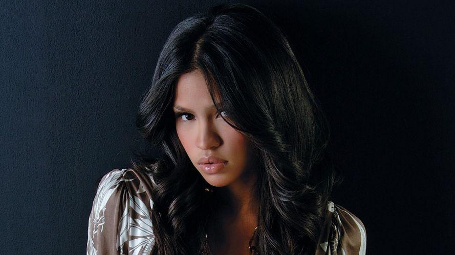 Cassie Ventura singer actress women females girls models brunettes sexy babes face eyes pov j wallpaper