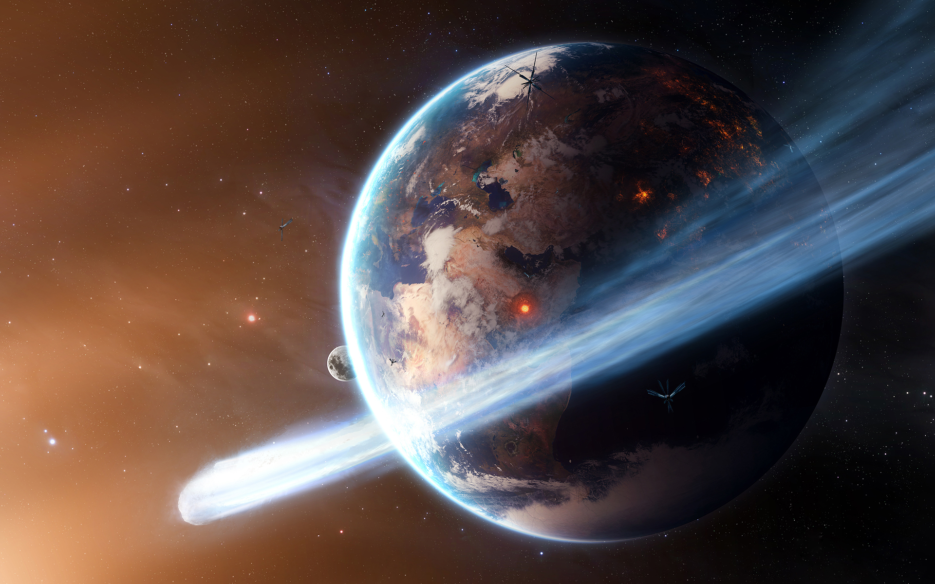 Обои космос земля спутник картинки на рабочий стол на тему Космос - скачать  № 1758097  скачать