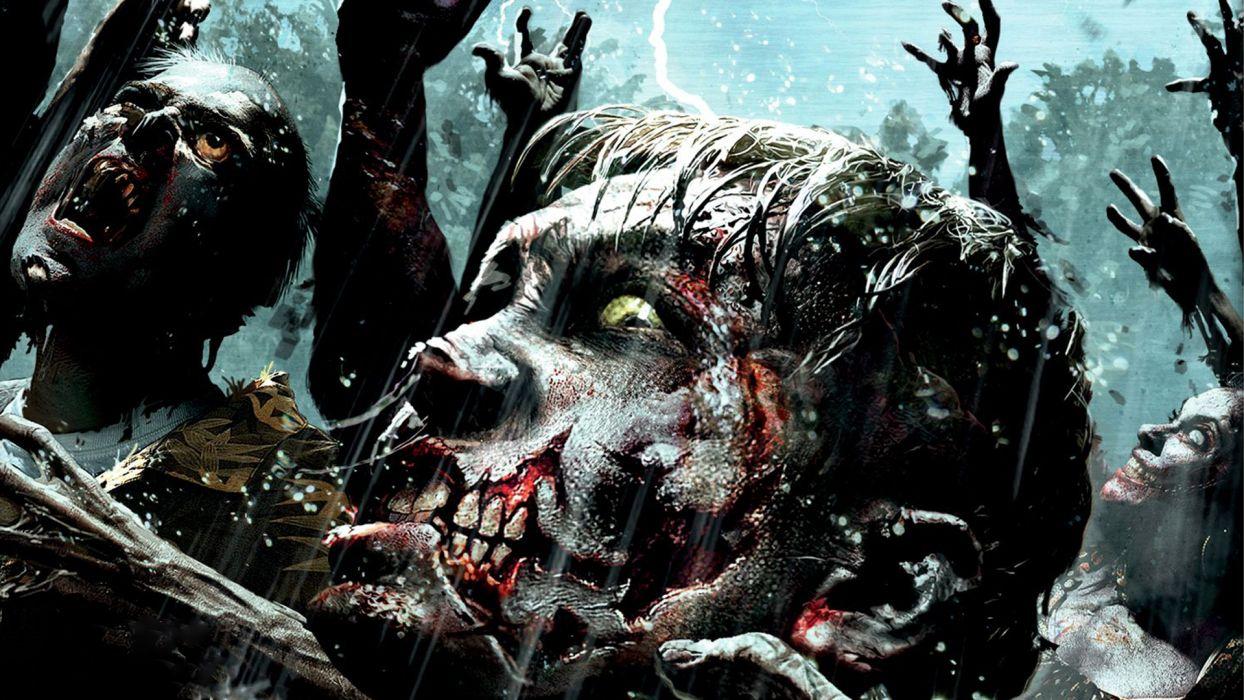 Dead Island Riptide dark zombies videogames horror wallpaper