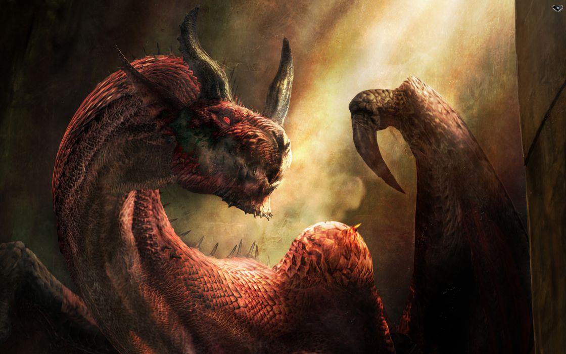 Dragon's Dogma 2 fantasy dragon wallpaper