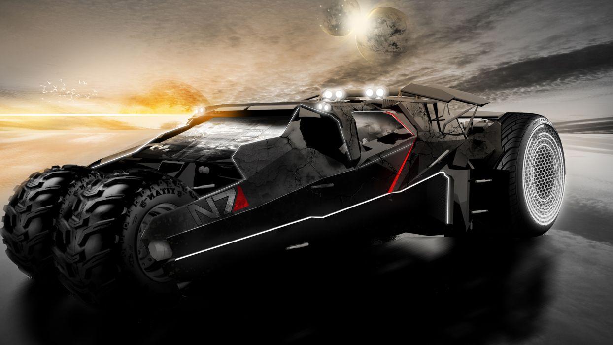 Mass Effect sci-fi vehicles wallpaper