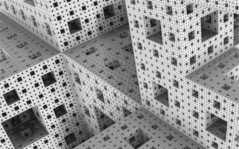 3d cg digital fractal wallpaper