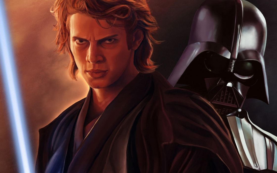 star wars Hayden Christensen Anakin Skywalker Dart Vader lightsaber sci-fi wallpaper