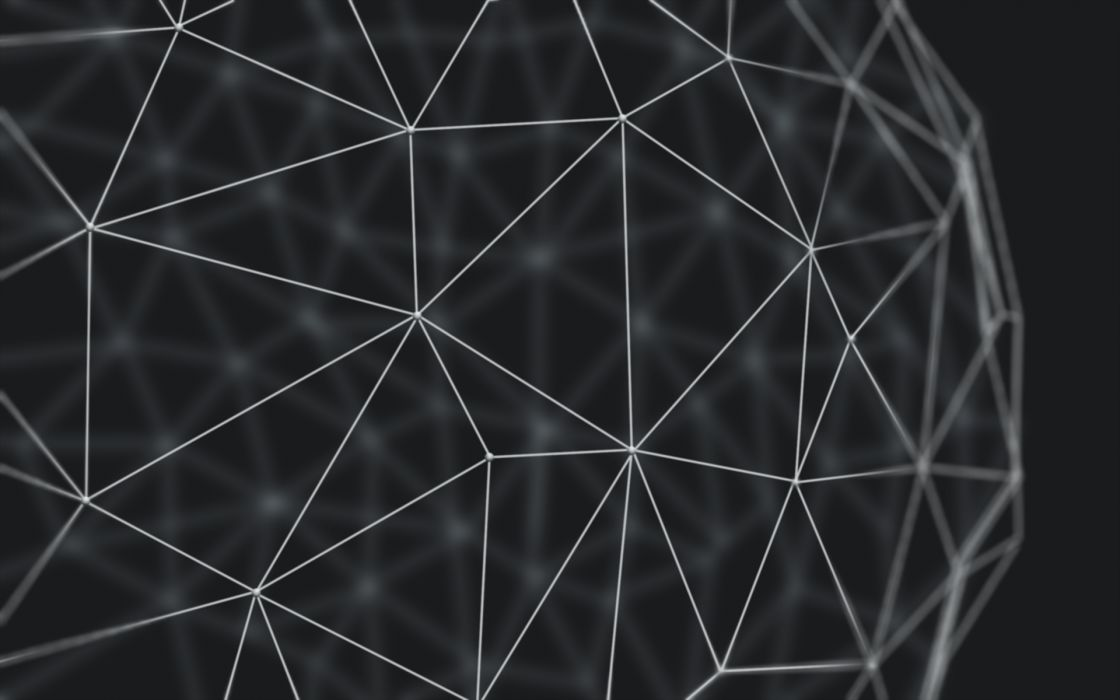 Abstract Sphere 3d geometry wallpaper
