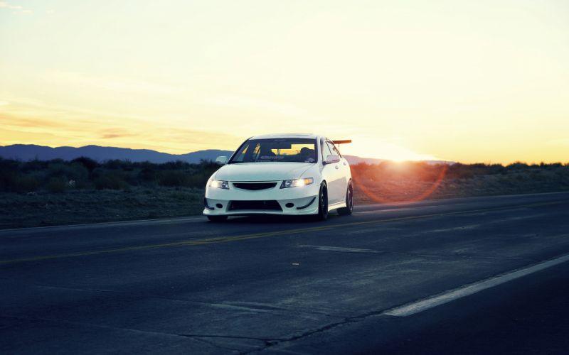 Acura TSX Honda Sunset tuning wallpaper