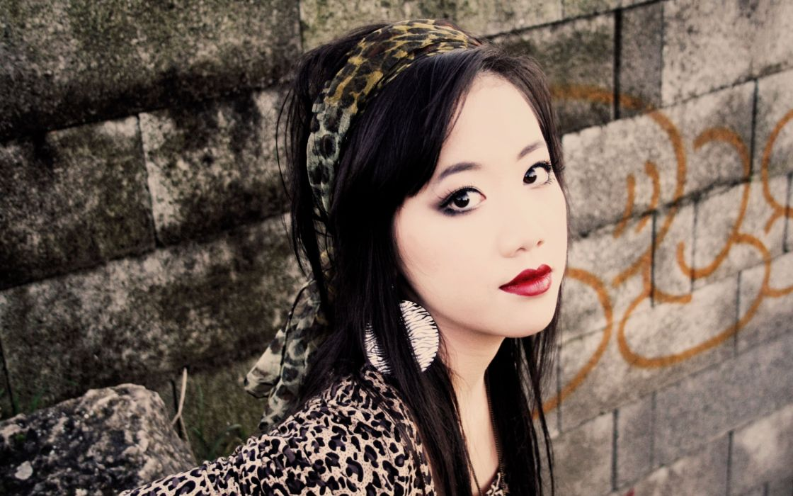 asian women models females girls face eyes wallpaper