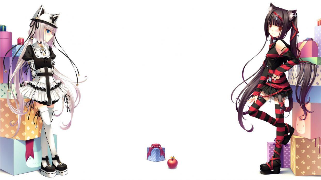 Chocola and Vanilla White Anime wallpaper