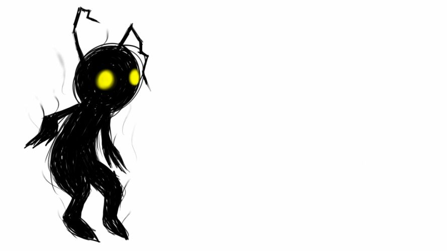 dark drawing spooky creey creature cartoon wallpaper