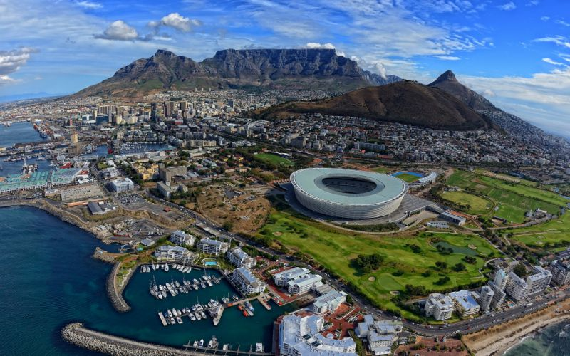 Cape Town South Africa Buildings Stadium Mountains wallpaper