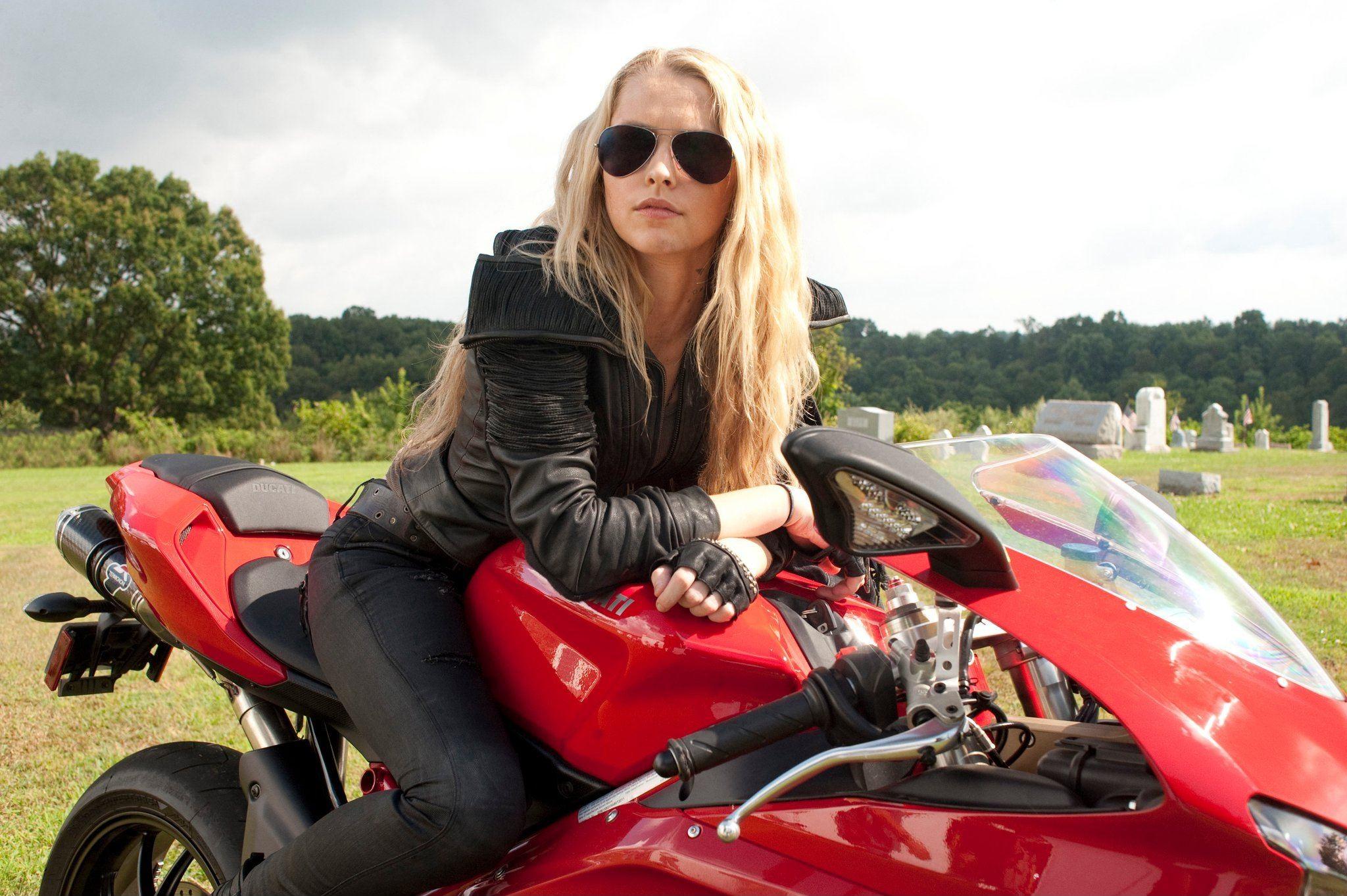 Ducati Sportbike 848 I Am Number Four Blonde Teresa Palmer ... I Am Number Four Movie Six