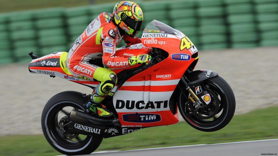 Ducati Sportbike Wheelie Motion Blur Valentino Rossi wallpaper