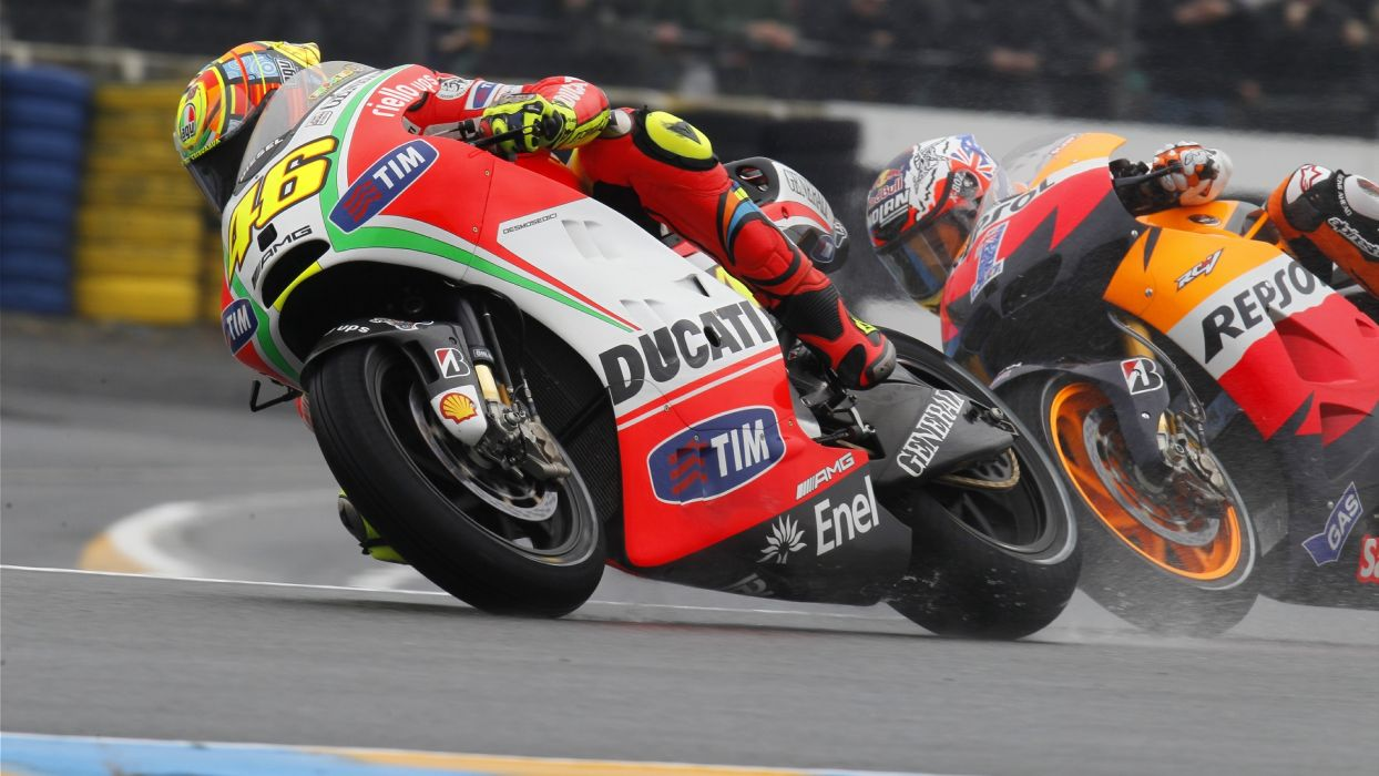Ducati Honda Sportbike racing wallpaper