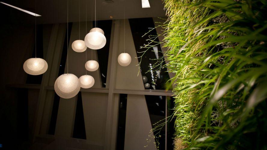 Grass Lights Room interior wallpaper