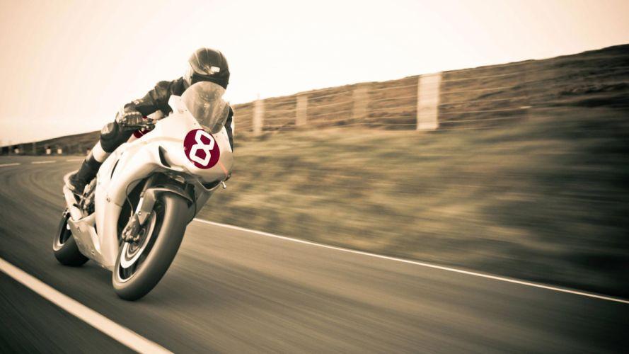 Honda CBR1000 Sportbike Motion Blur wallpaper