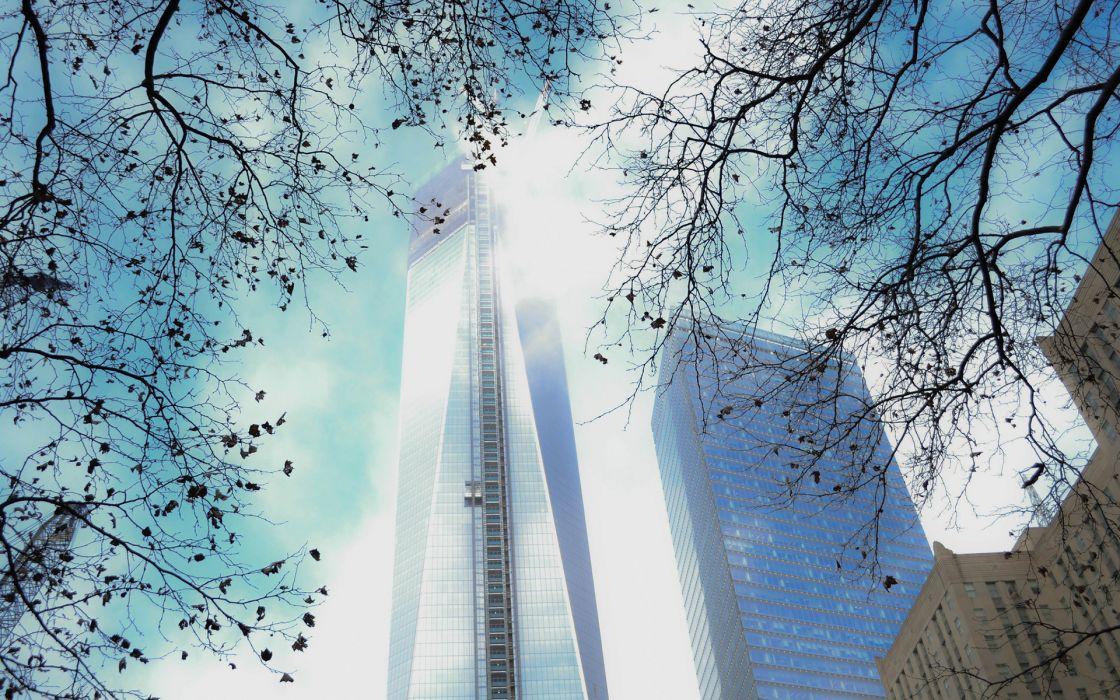 New York Buildings Skyscrapers Freedom Tower wallpaper