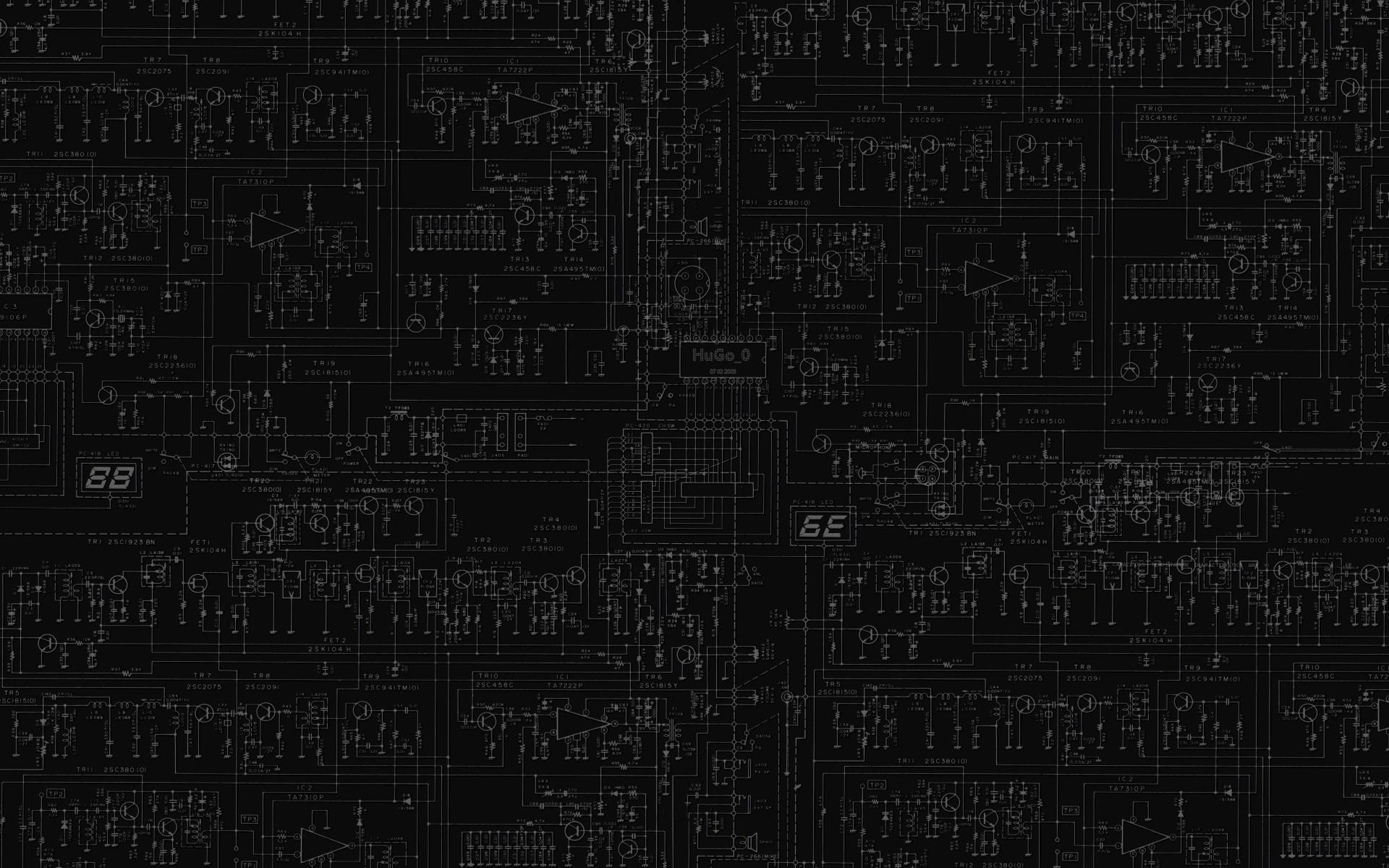 Schematic Circuits Diagram Black Bw Wallpaper