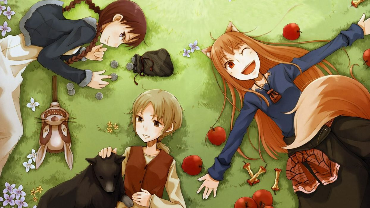 Spice and Wolf Anime wallpaper