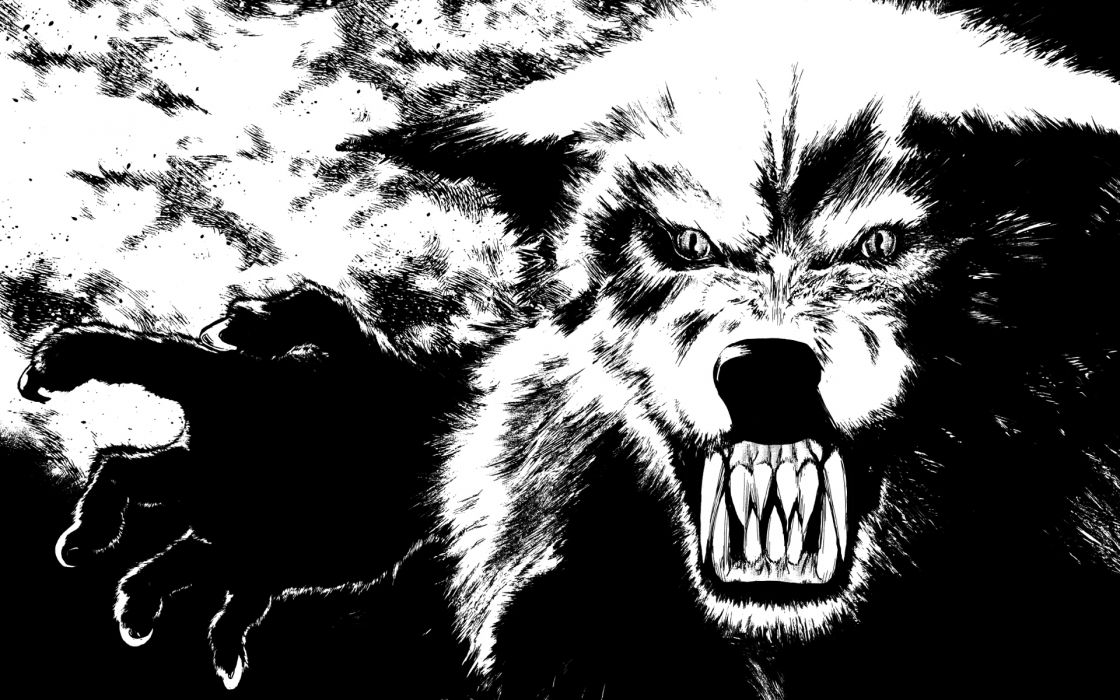 Werewolf dark monster creature beast wallpaper
