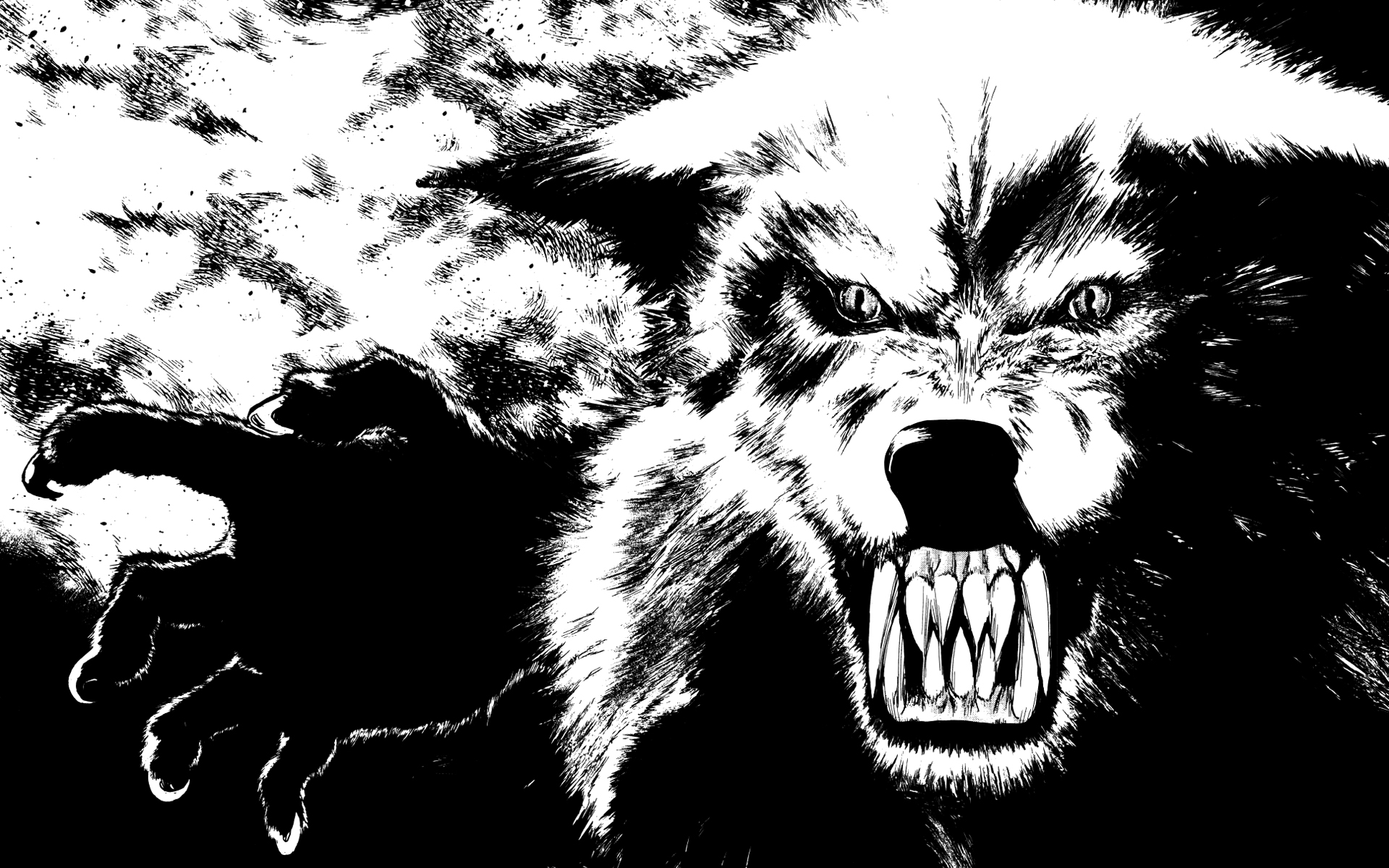 beast wolf wallpaper art - photo #7