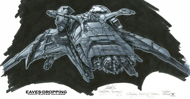 Star Trek Nemesis Spaceship Drawing sci-fi movies tv series wallpaper