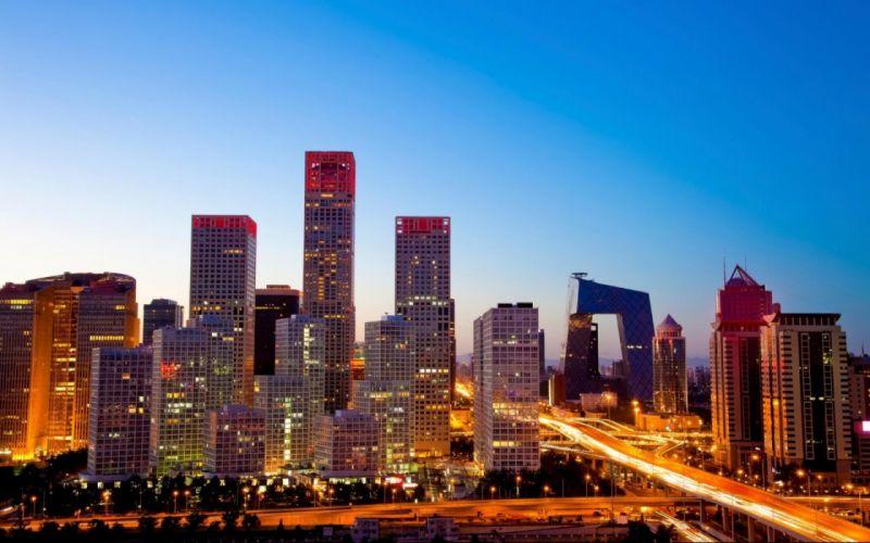 Beijing buildings skyscrapers roads wallpaper
