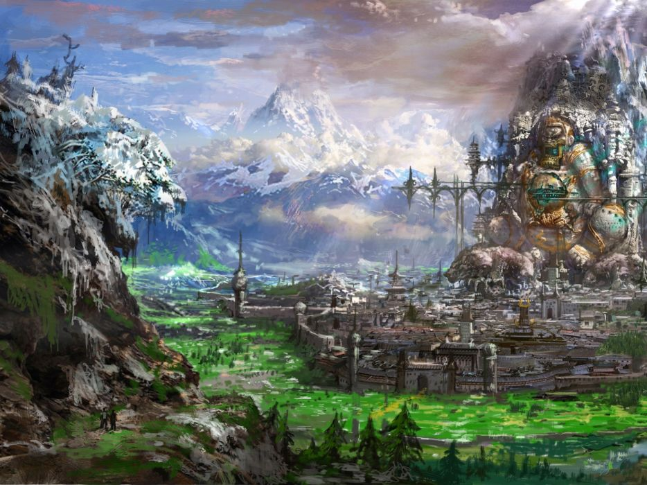 Blade and Soul fantasy cities wallpaper