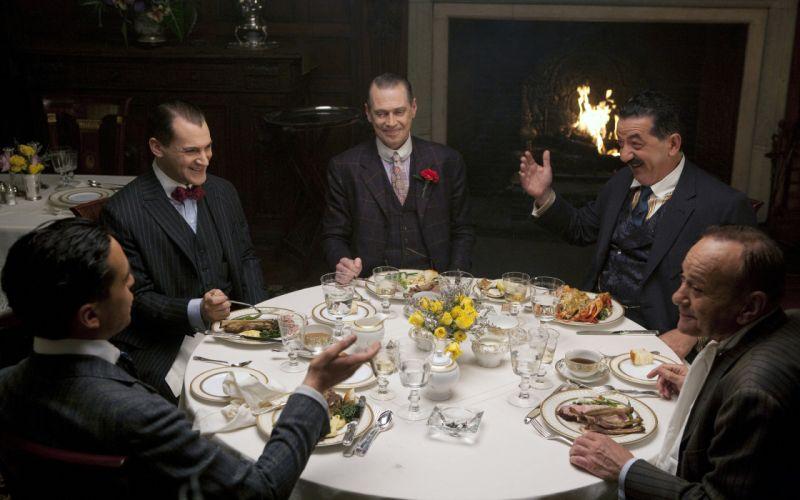 Boardwalk Empire Steve Buscemi Nucky Dinner Table Laugh Michael Stuhlbarg Arnold Rothstein wallpaper
