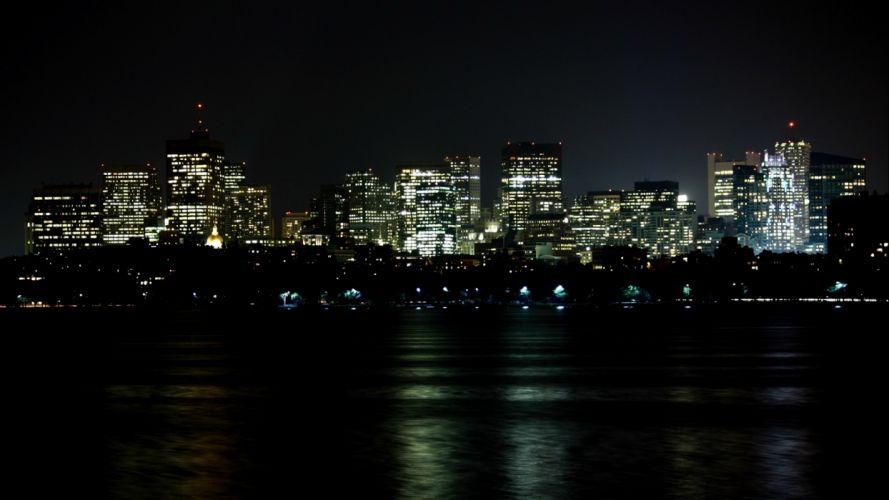 Boston buildings skyscrapers wallpaper
