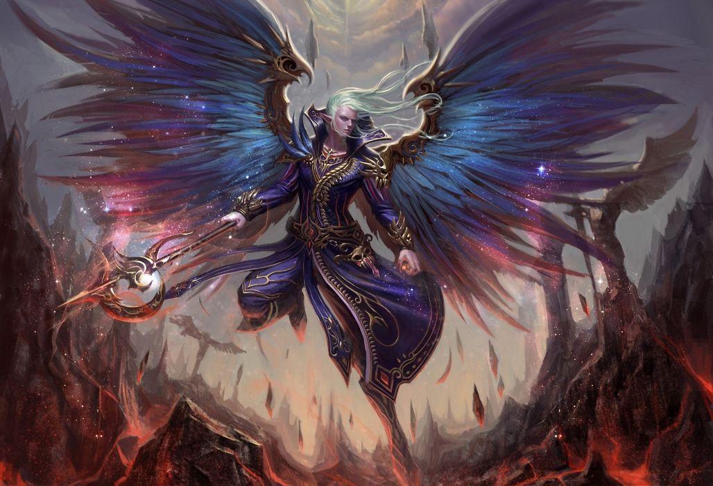 elf magic angel wings wallpaper