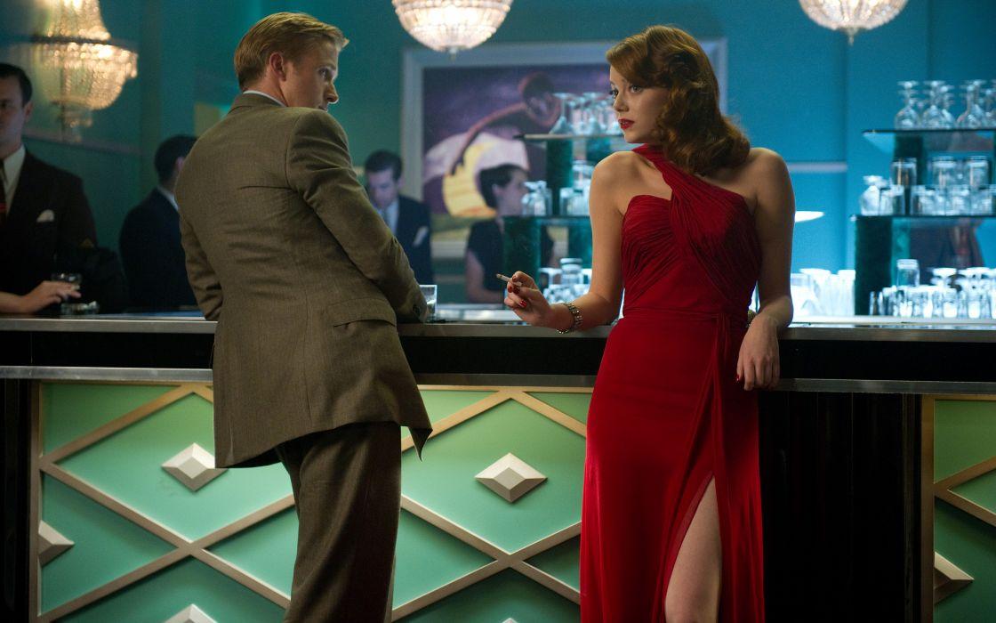 Gangster Squad Ryan Gosling Emma Stone Dress Cigarette women females girls men males wallpaper