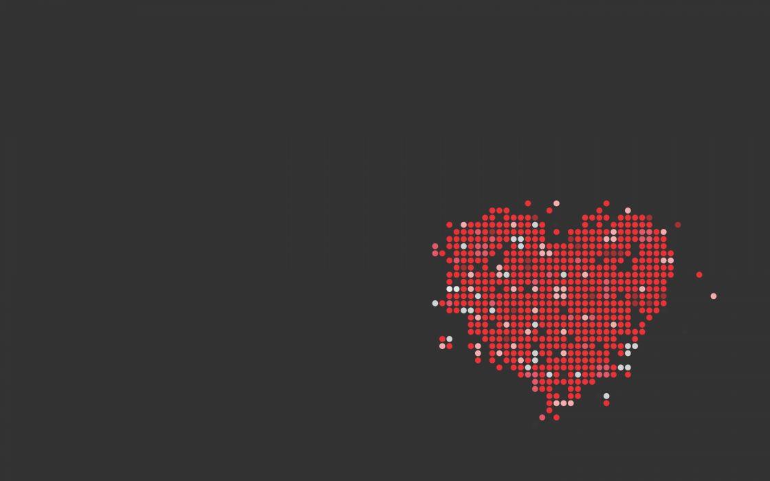 Dots Heart love vector wallpaper