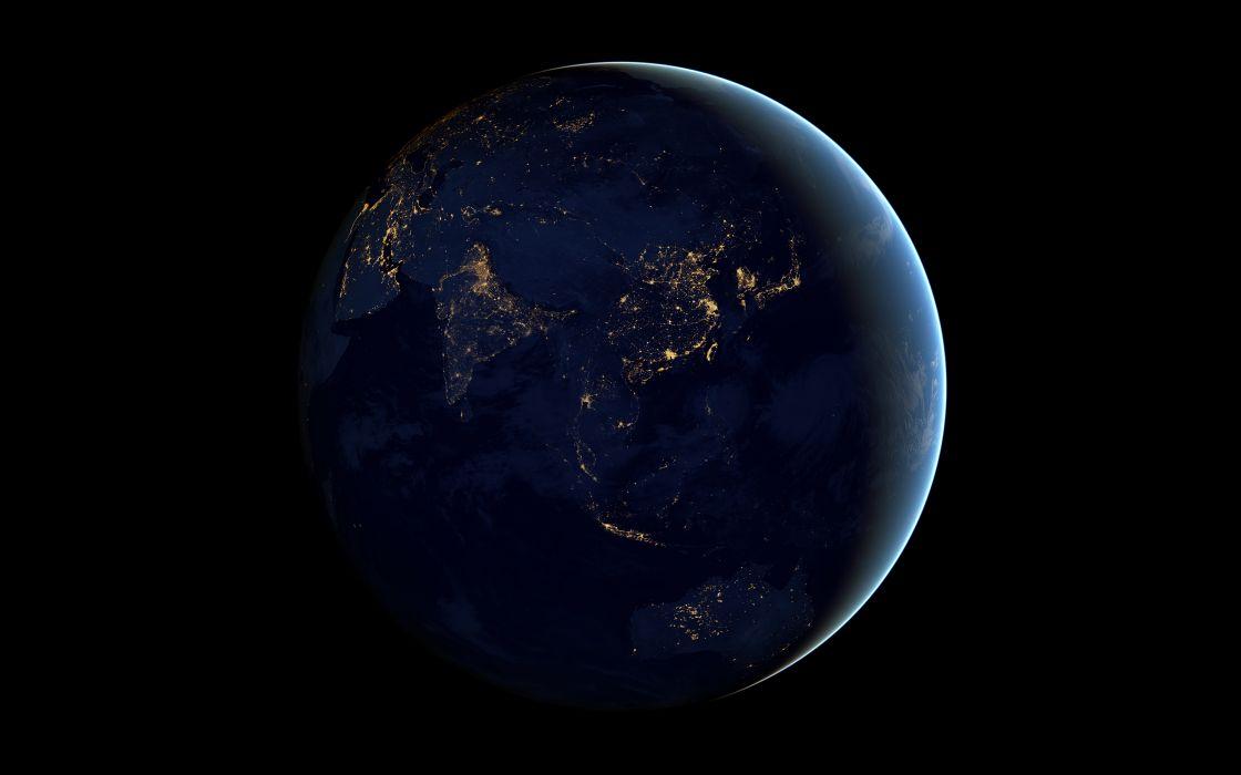 Earth Black Planet Lights Night     r wallpaper