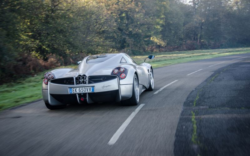 Pagani Huayra supercar roads wallpaper