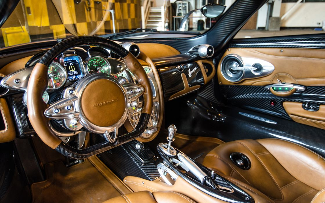 Pagani Huayra Interior Carbon Fiber Steering Wheel Dashboard