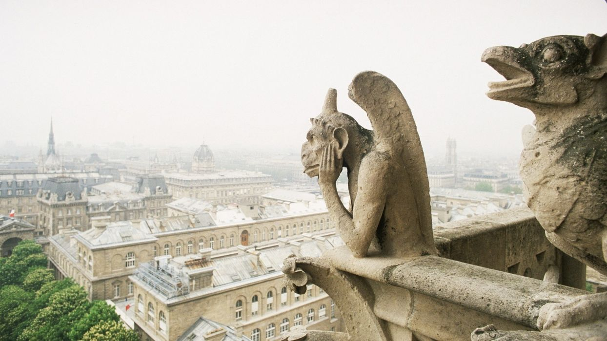 paris france gargoyle cathedral notre dame 1920x1080 wallpaper Nation France HD wallpaper