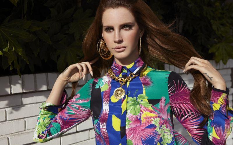 Lana Del Rey Brunette women females girls singer wallpaper