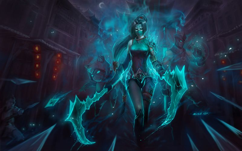 League of Legends Drawing Akali Kennen Shen wallpaper