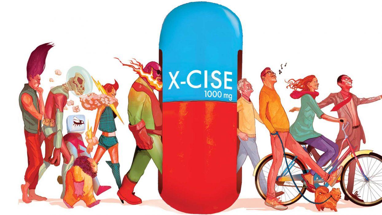 Marvel Pill X-Cise White wallpaper