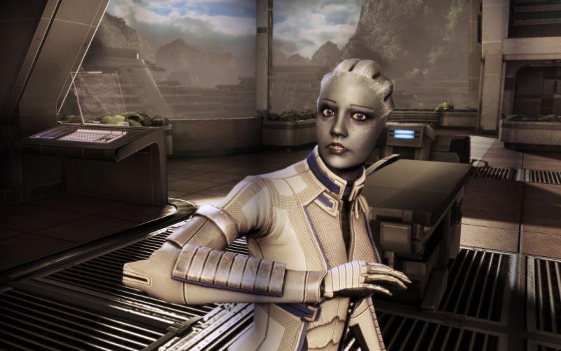 Mass Effect sci-fi cyborg wallpaper