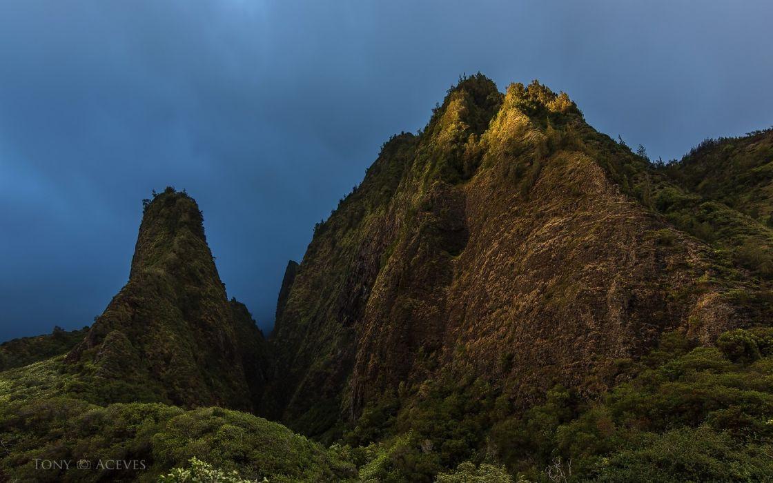 maui United States Hawaii Hawaiian Islands mountains sky wallpaper