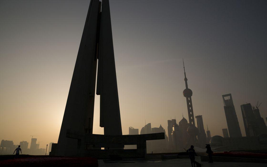 Shanghai Buildings Skyscrapers wallpaper
