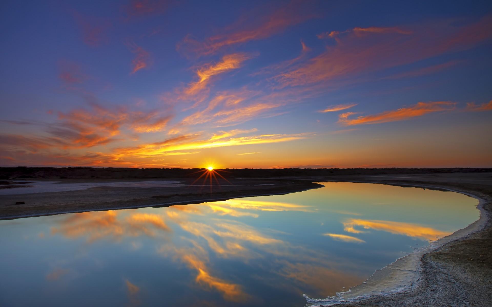 Wallpaper sunlight landscape sunset sea night abstract lake