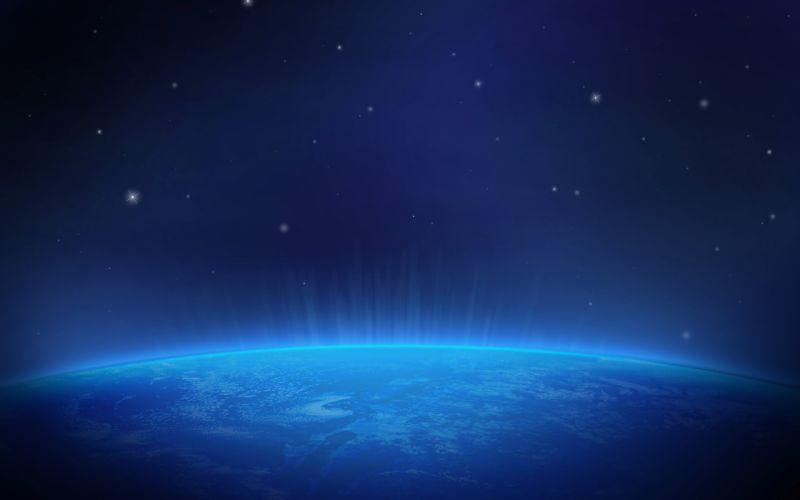 Planet Stars Blue wallpaper